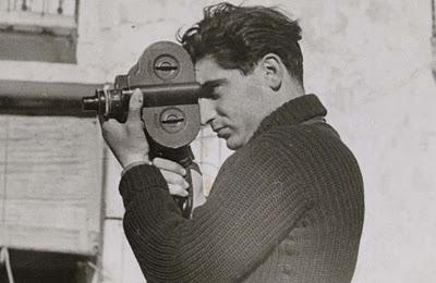 Robert Capa fotografiado por su novia, Gerda Taro, en el frente de Segovia, durante la guerra civil española